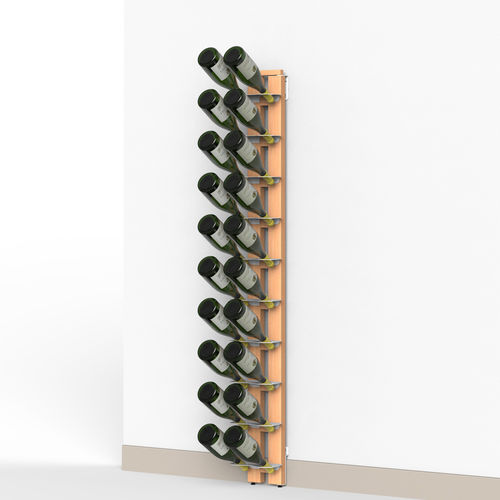 Zia Gaia | Wall bottle rack with single shelves | h 150 cm
