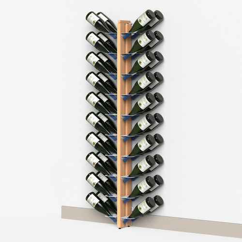 Zia Gaia | Wall bottle rack wall with double front shelves | h 150 cm