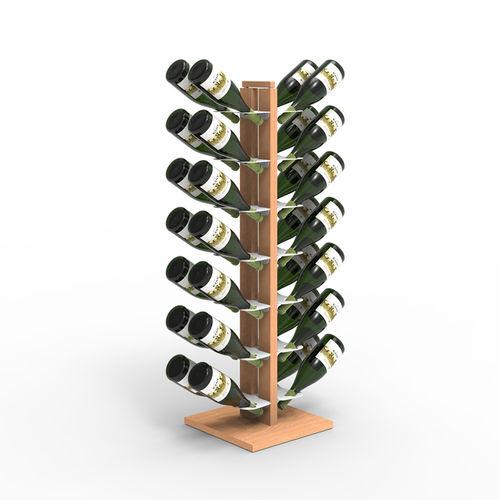 Zia Gaia | Column bottle rack with double front shelves | h 105 cm