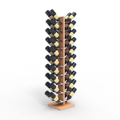 Zia Gaia | Column bottle rack with double front shelves | h 150 cm