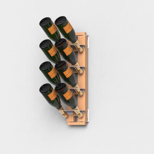 Zia Gaia | Wall hung bottle rack with single shelves | h 60 cm