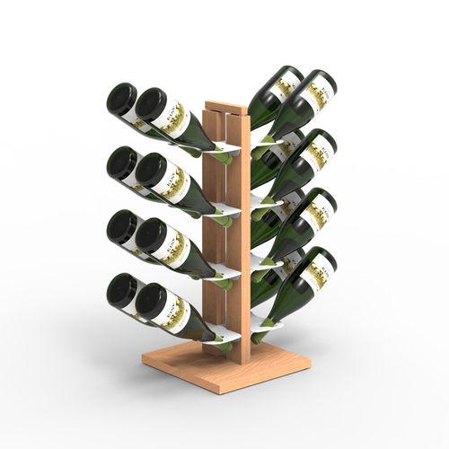 Zia Gaia | Column bottle rack with double front shelves | h 60 cm