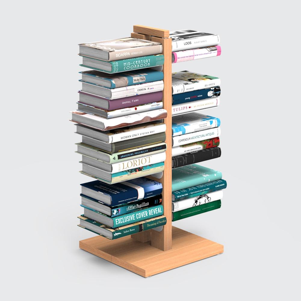 Zia Bice | libreria a colonna | faggio naturale | h 60 cm