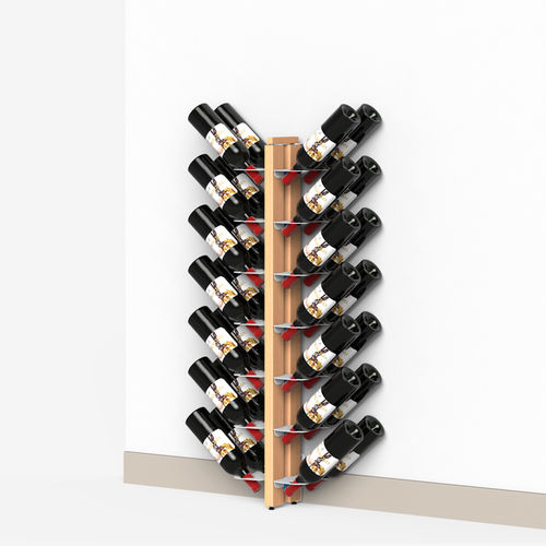 Zia Gaia | Wall bottle rack wall with double front shelves | h 105 cm
