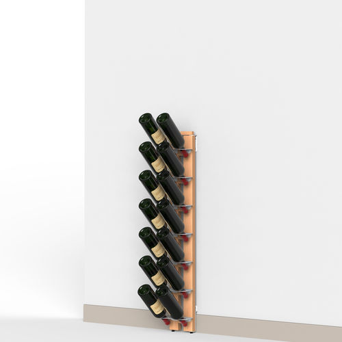 Zia Gaia | Wall bottle rack with single shelves | h 105 cm