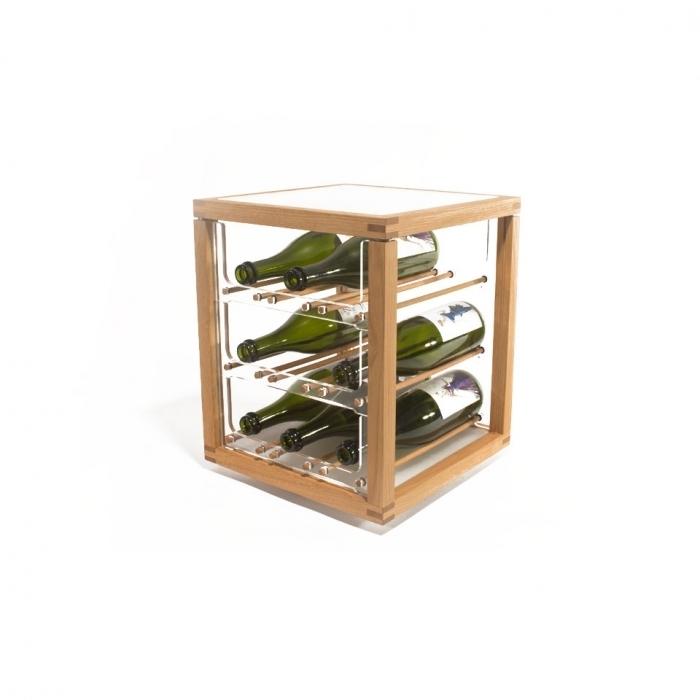 Zia Babele | Porte-bouteilles en chêne massif | Tour 1 module