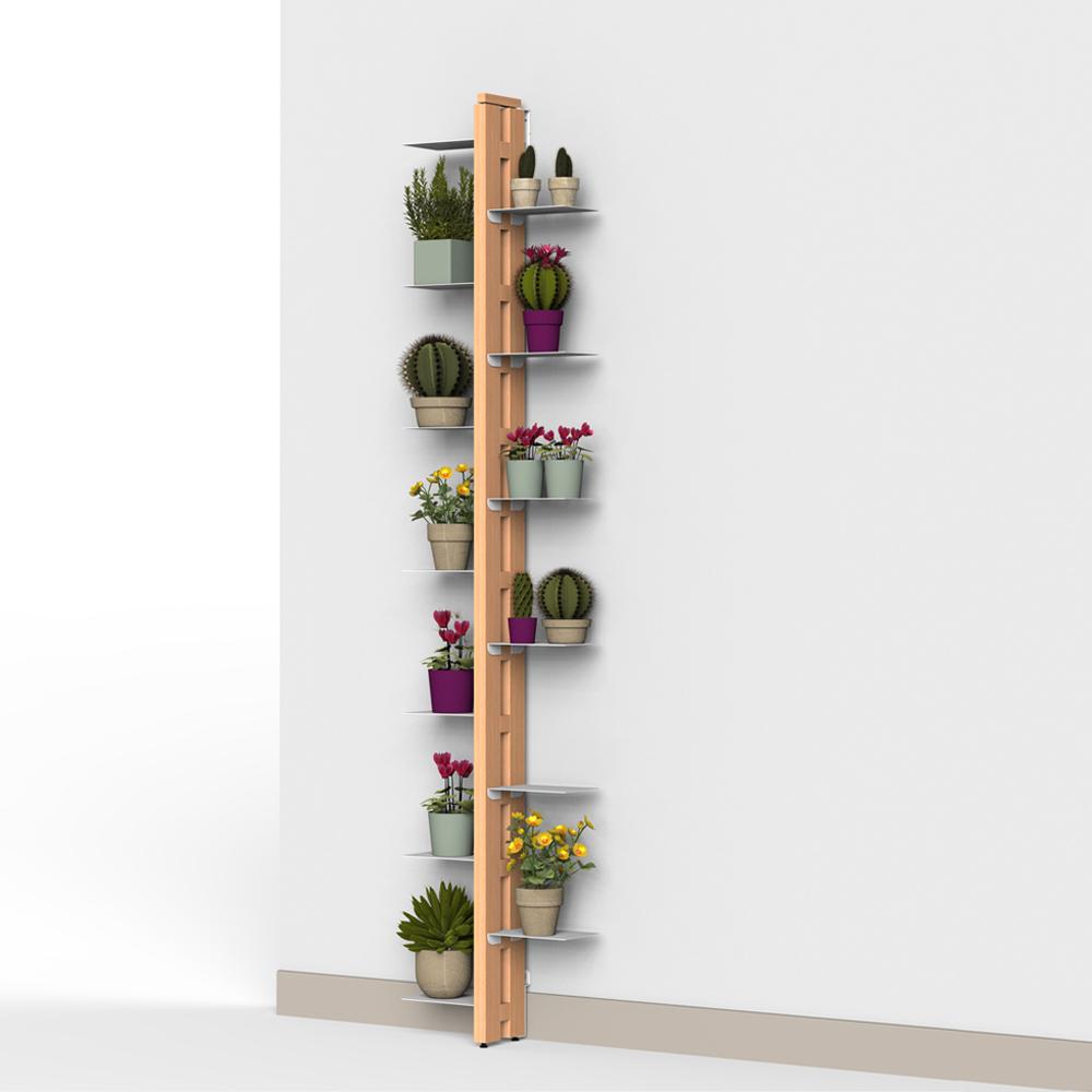 Zia Flora | porte plantes à mur | h 195 cm