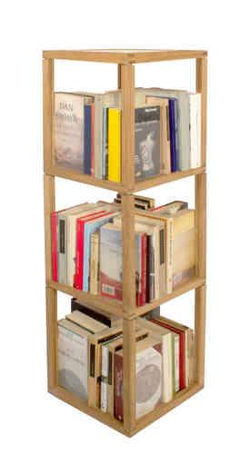Trottola Zia Babele | fermalibri portaCD | Torre 3 moduli 3 elementi