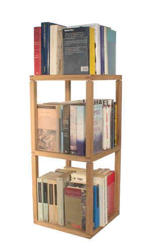 Trottola Zia Babele | fermalibri portaCD | Torre 2 moduli 3 elementi