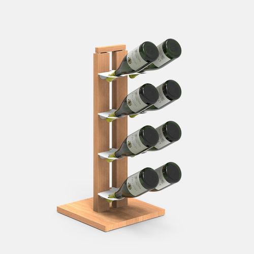 Zia Gaia | Column bottle rack with single shelves | h 60 cm