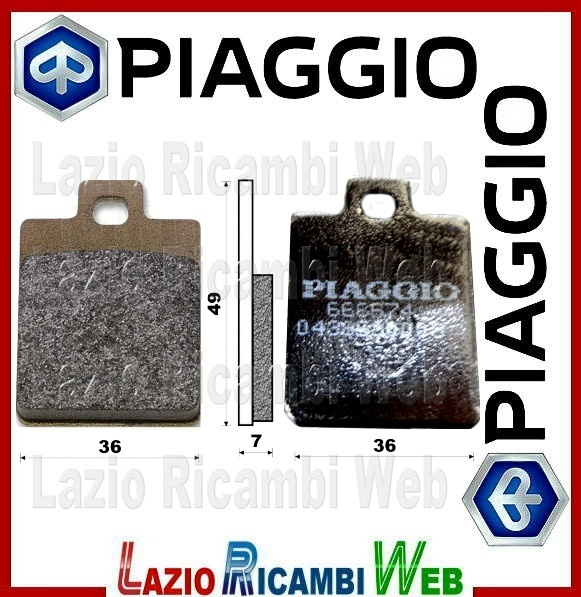 PASTIGLIE FRENI METALLO SINTERIZZATO PIAGGIO BEVERLY 400 IE 2006-2007 ANTERIORE
