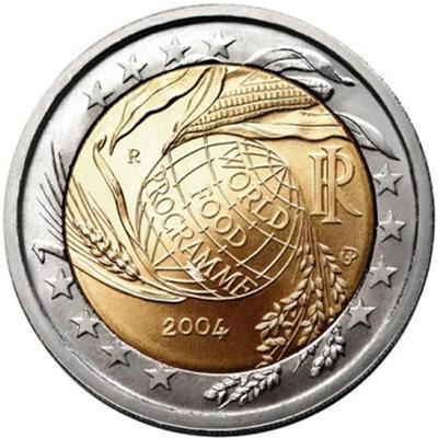 2 Euro Commemorativi Italia 2004 World Food Programme