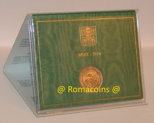 2 Euro Commemorativi Vaticano 2010 in Folder Fdc