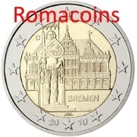 2 Euro Commemorativi Germania 2010 Bremen Fdc