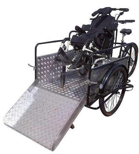 Cargo Bike for Transport People Disabled on wheelchair