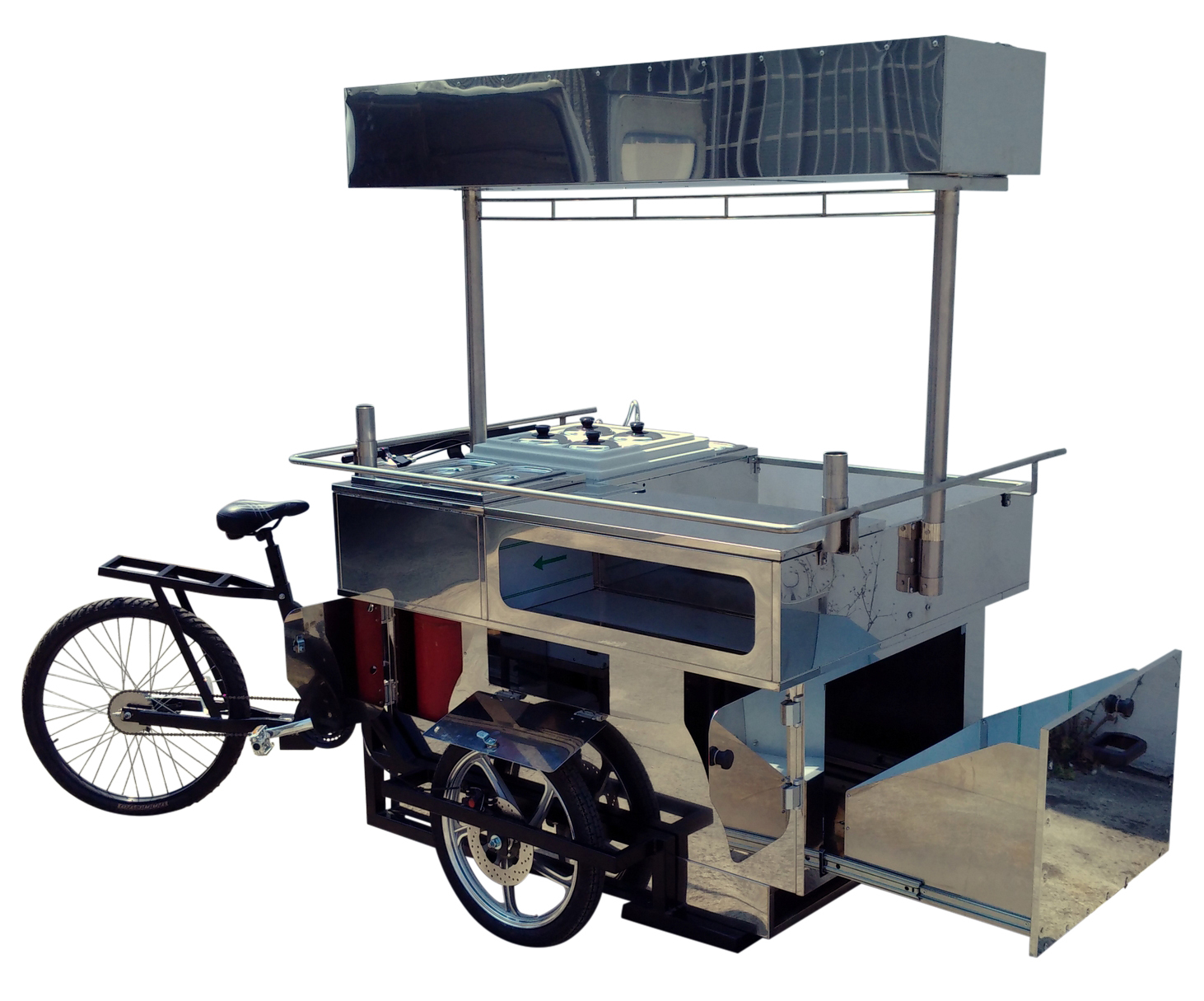 Street Food Carts On Tricycles Bikes