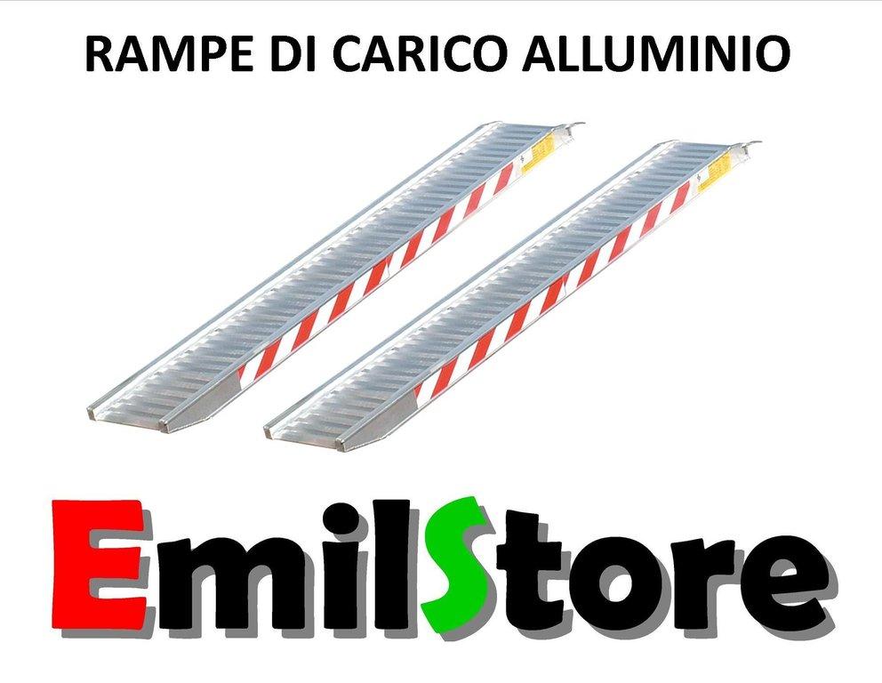 RAMPE DI CARICO IN ALLUMINIO 3 METRI H115 (PREZZO COPPIA) - www.emilstore.it
