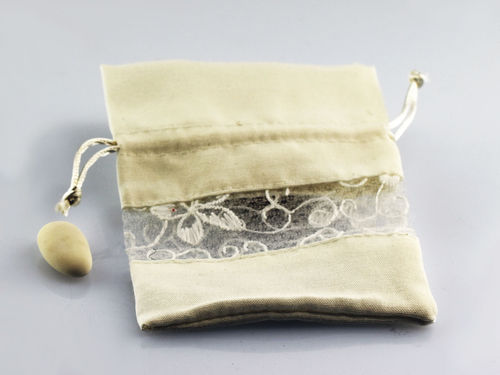 Cotton and lace bag with pulling LDZ-5444