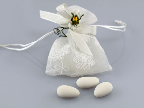 small embroidered organza bag with pulling DZ-5053