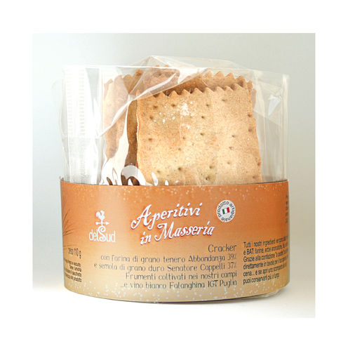 Crackers with TYPE 1 flour and Senatore Cappelli semolina