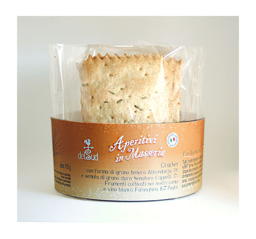 Crackers with TYPE 1 flour - Senatore Cappelli semolina - Rosemary
