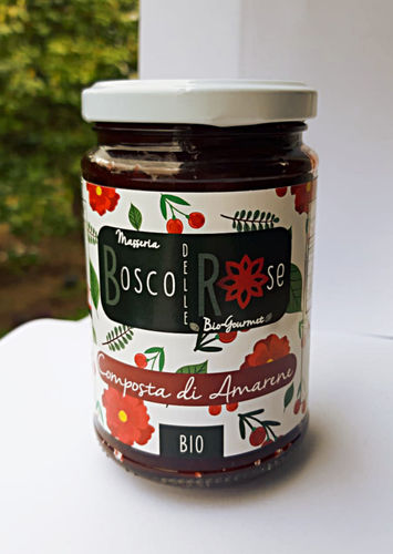 Organic black Cherry compote Masseria Bosco delle Rose