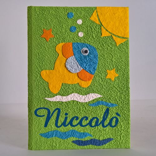 Diary album of the newborn with FISH and NAME