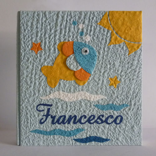 heavenly photo albums with fish, sun and name