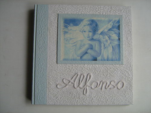 Baptism photo album heavenly angel and name