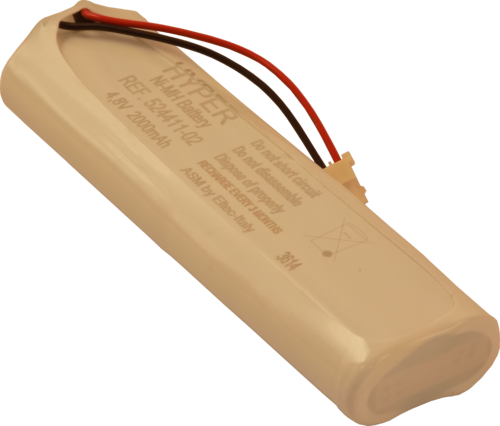 Battery pack for NanoVIP analyzers