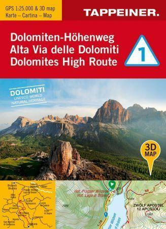 Cartina 3d Dolomiti.Alta Via Delle Dolomiti 1 Libri Di Montagna