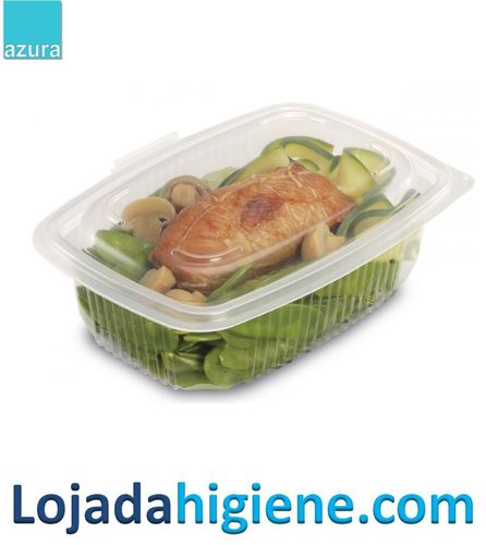 50 Envases alimentar 600cc  con  tapa (ondpack)