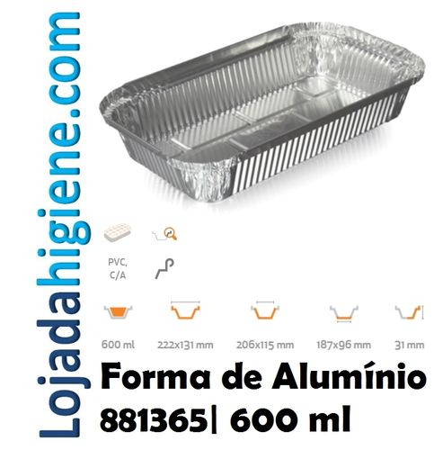 700 Formas aluminio rectangular 600 ml