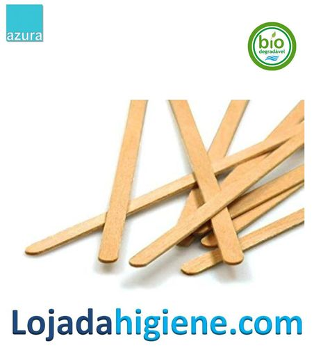 1000 Removedores ECO madera  9 cm Biodegradable y compostable