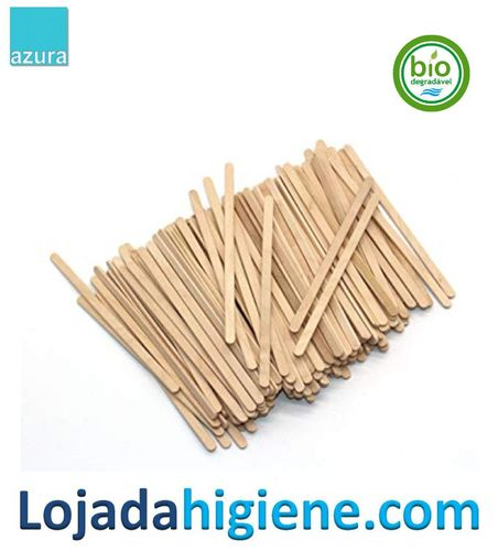 500 Removedores ECO madera  19 cm Biodegradable y compostable