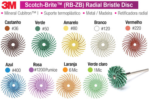 3M Scotch-Brite RB-ZB Radial Bristle Disks