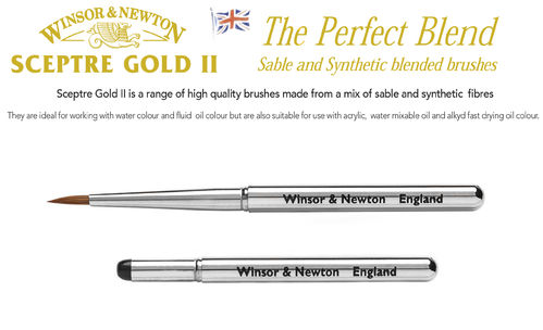 W&N Sceptre Gold II No.2 Pocket Brush