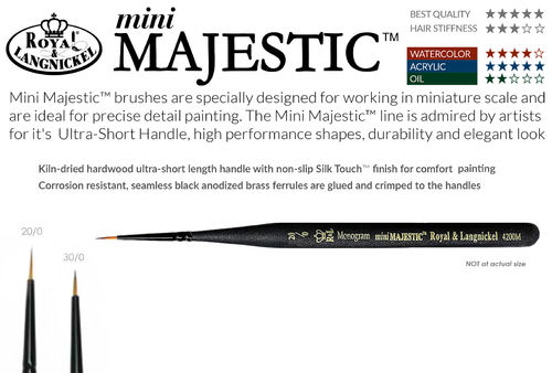 Royal Mini Majestic Monogram Brush