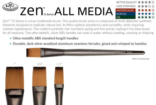 Royal ZEN All Media One Stroke Brush