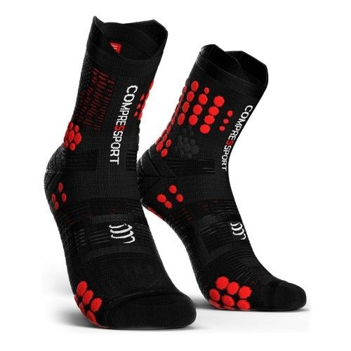 Compressport Pro Racing Socks Trail V3.0 Preto/Vermelho