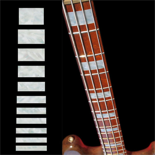 MOP JAZZ BASS Block Fretboard Markers Inlay Sticker Decal