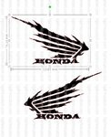 Kit 2 Autocolantes Custom Honda Wings em vinil