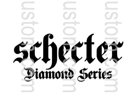 Schecter Dimond Series Waterslide Decal 40x19mm