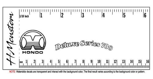 Hondo Deluxe Series 780 Replacement Waterslide Logo Decal