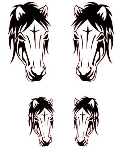 2 Kits Horse Head Vinyl Sticker
