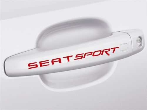 4 x SEAT Sport Door Handle Decals Stickers