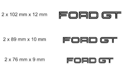 Set of 2 X Ford GT brake caliper decal sticker fits Ford GT