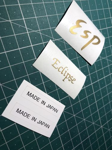 ESP ECLIPSE Guitar Restoration Vinyl Logos Set