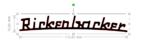 Rickenbacker 4001v63 Bass Logo Custom Headstock Vinyl Sticker