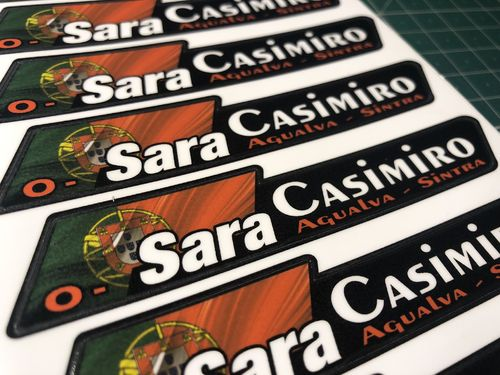 8 Flag Blood and Name Tag Vinyl Sticker